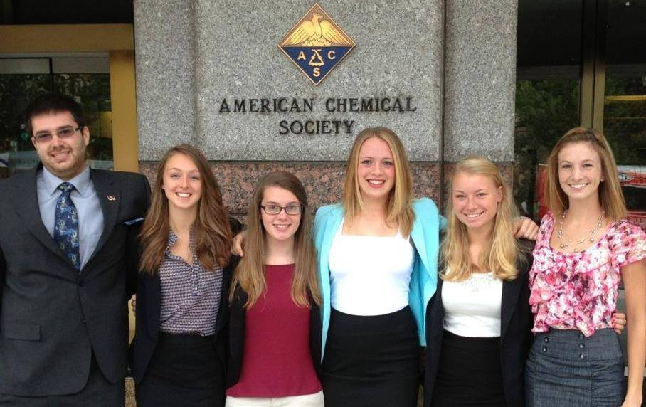Rachel Sobel '15, third from right, and other ACS student delegates.