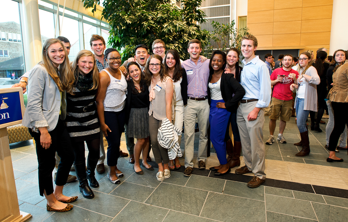 The 2014 Senior Gift was announced at a reception in September.
