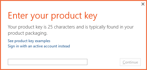 the product key you entered cannot be used on this machine