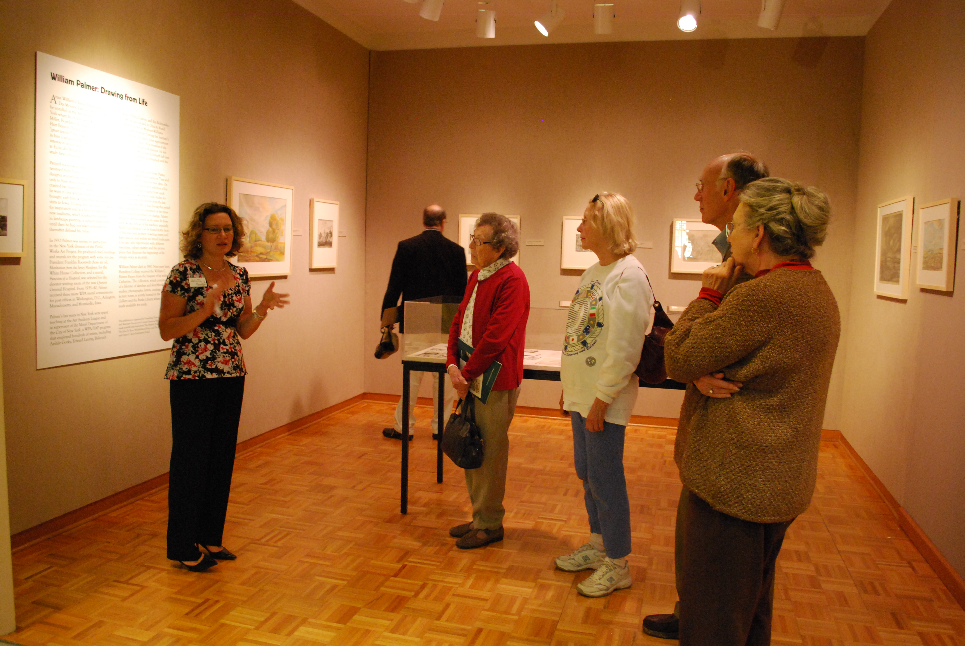 Associate Director Susanna White gave a talk on current exhibitions in Emerson Gallery