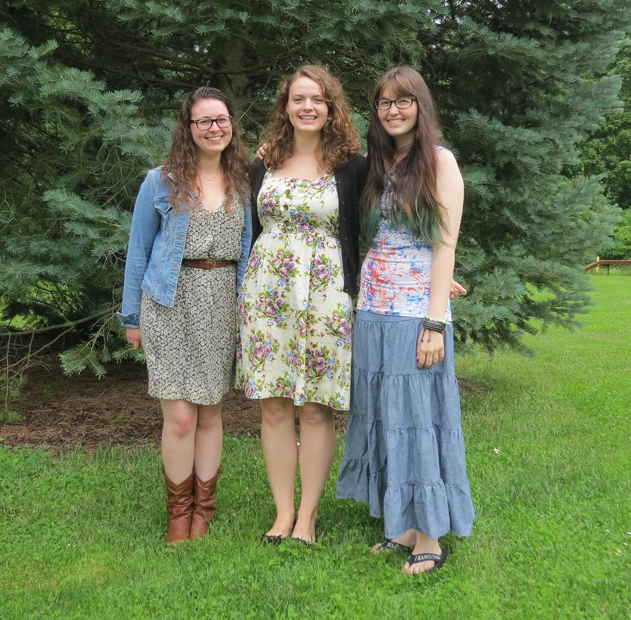 Elizabeth Buchanan '15, Katherine Delesalle '14, and Allison Schuette '16.