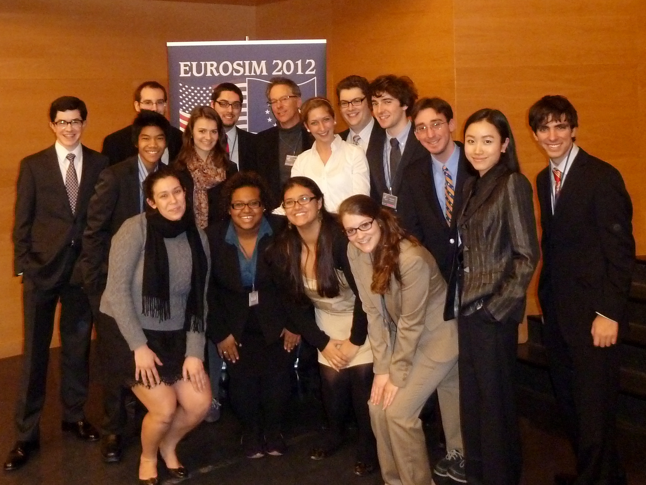 Model European Club members with Professor Alan Cafruny in Wroclaw, Poland.