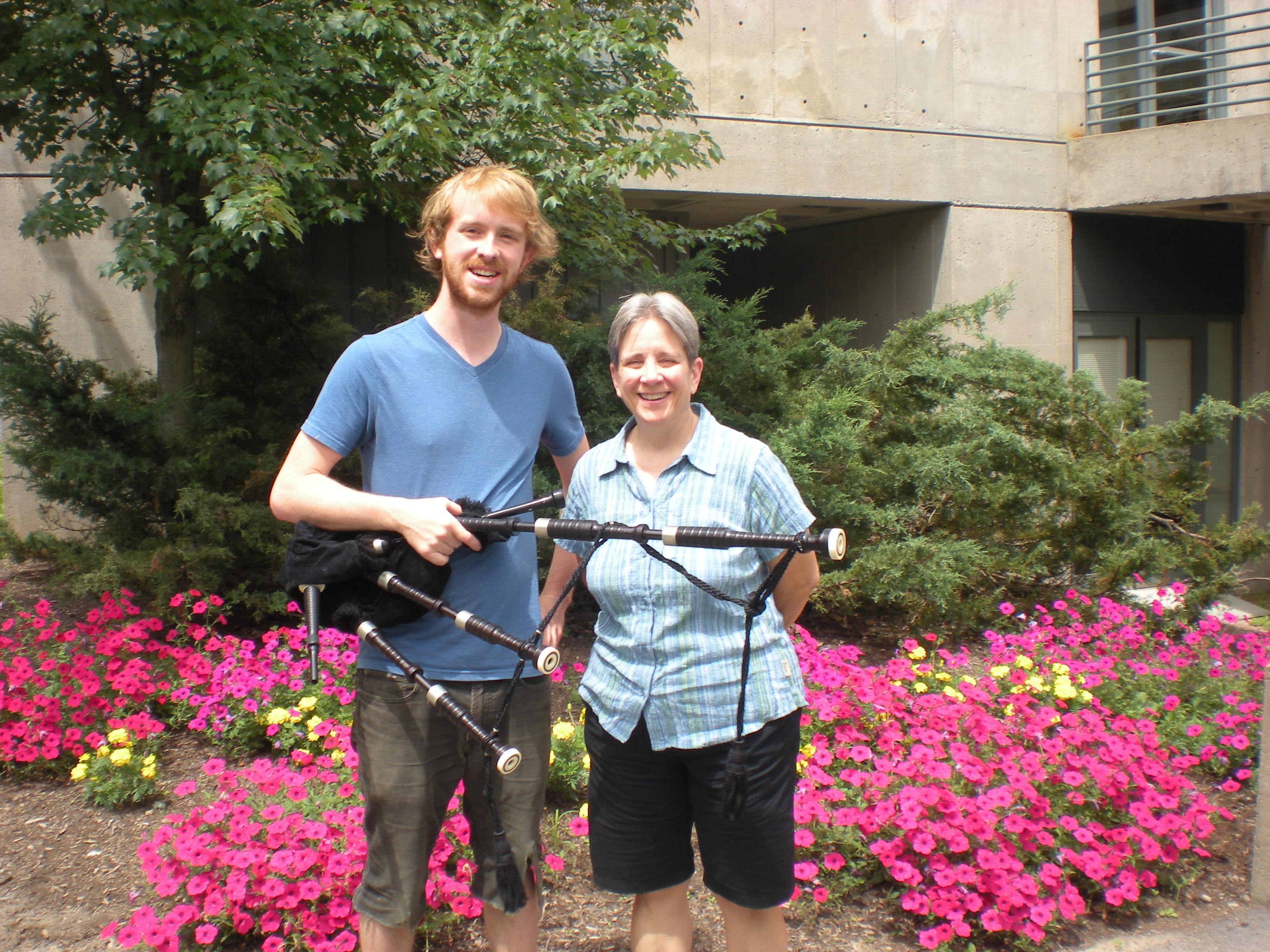 Nathaniel Livingston '14 with his advisor Prof. Lydia Hamessley.