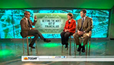 Matt Lauer, Monica Inzer and N.Y. Times reporter Jacques Steinberg on Today Show set