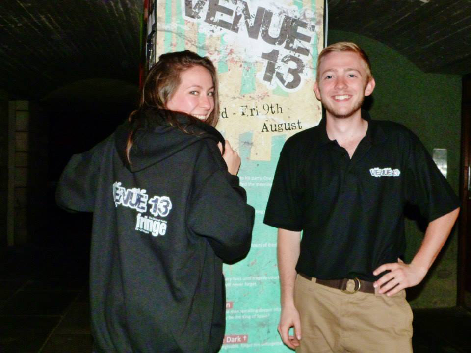 Rachael Wilkin '16 and Shea Crockett '15 interned with Venue 13 at the Fringe theatre festival in Edinburgh, Scotland.