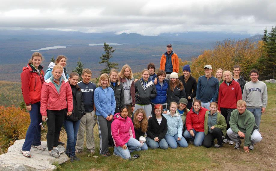 The ecology class on Whiteface Mountain.