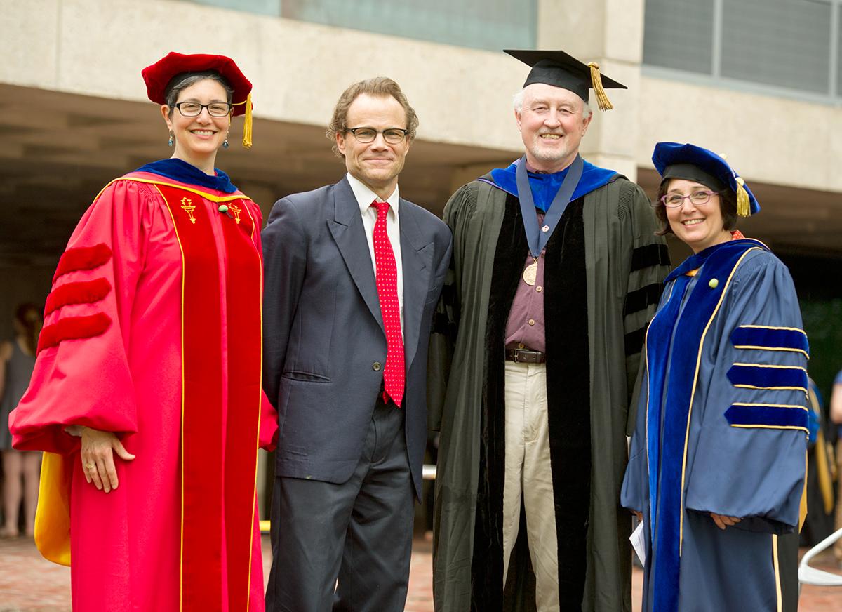 Professors Naomi Guttman, Doran Larson, Tom Jones and Lisa Trivedi.