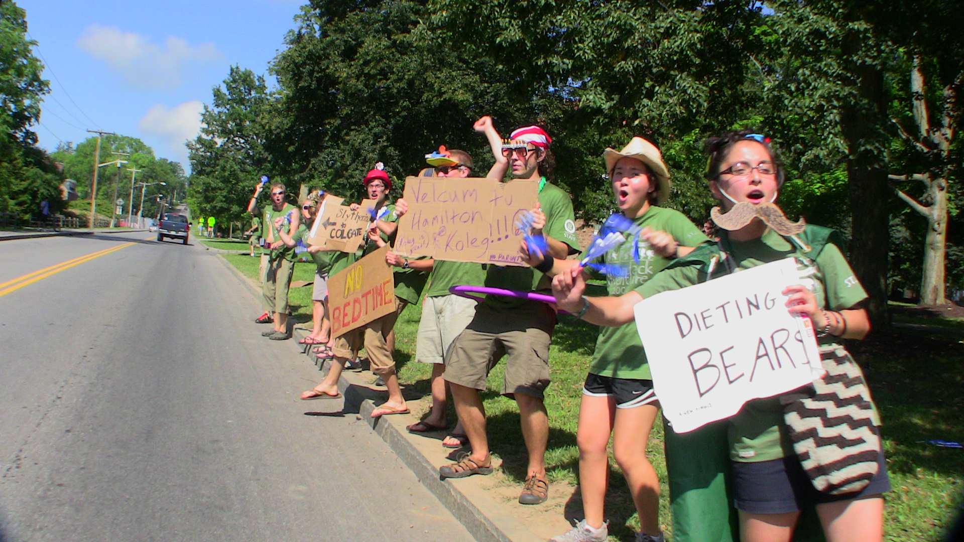 Adirondack Adventure staff greets members of the class of 2013.