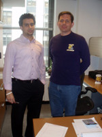 Pablo Abreu '10 (left) with William Hajjar, his supervisor at Wunderman.
