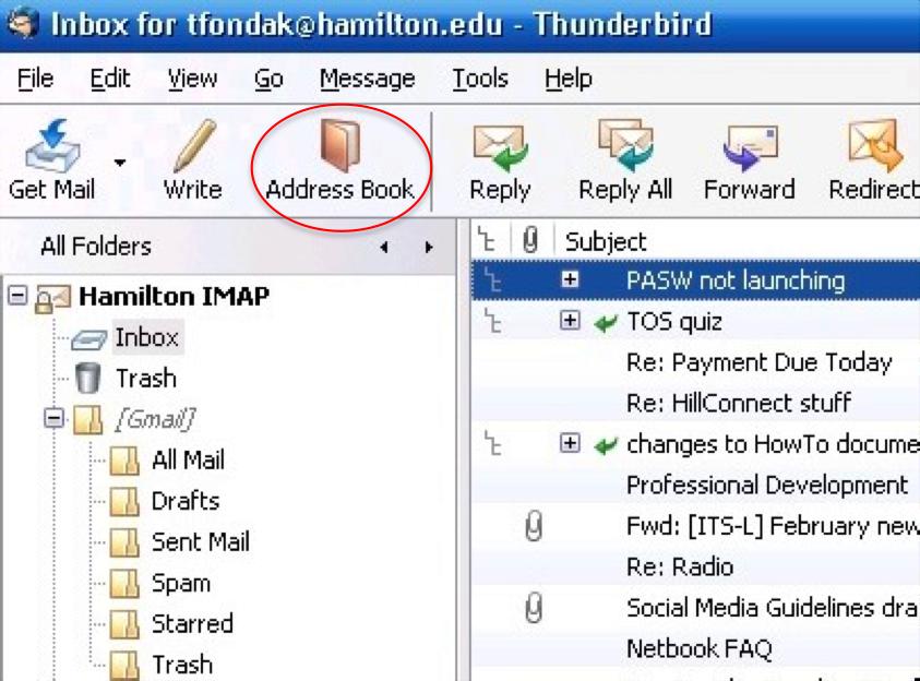 Resource Center - Migrating Thunderbird Address Book to