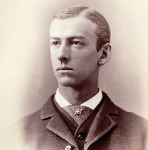 A portrait of Alonzo Whiteman, Class of 1881, that appears in a class book held in the College Archives. Below is Whiteman as he appeared in a 1904 edition of the Chicago Tribune.