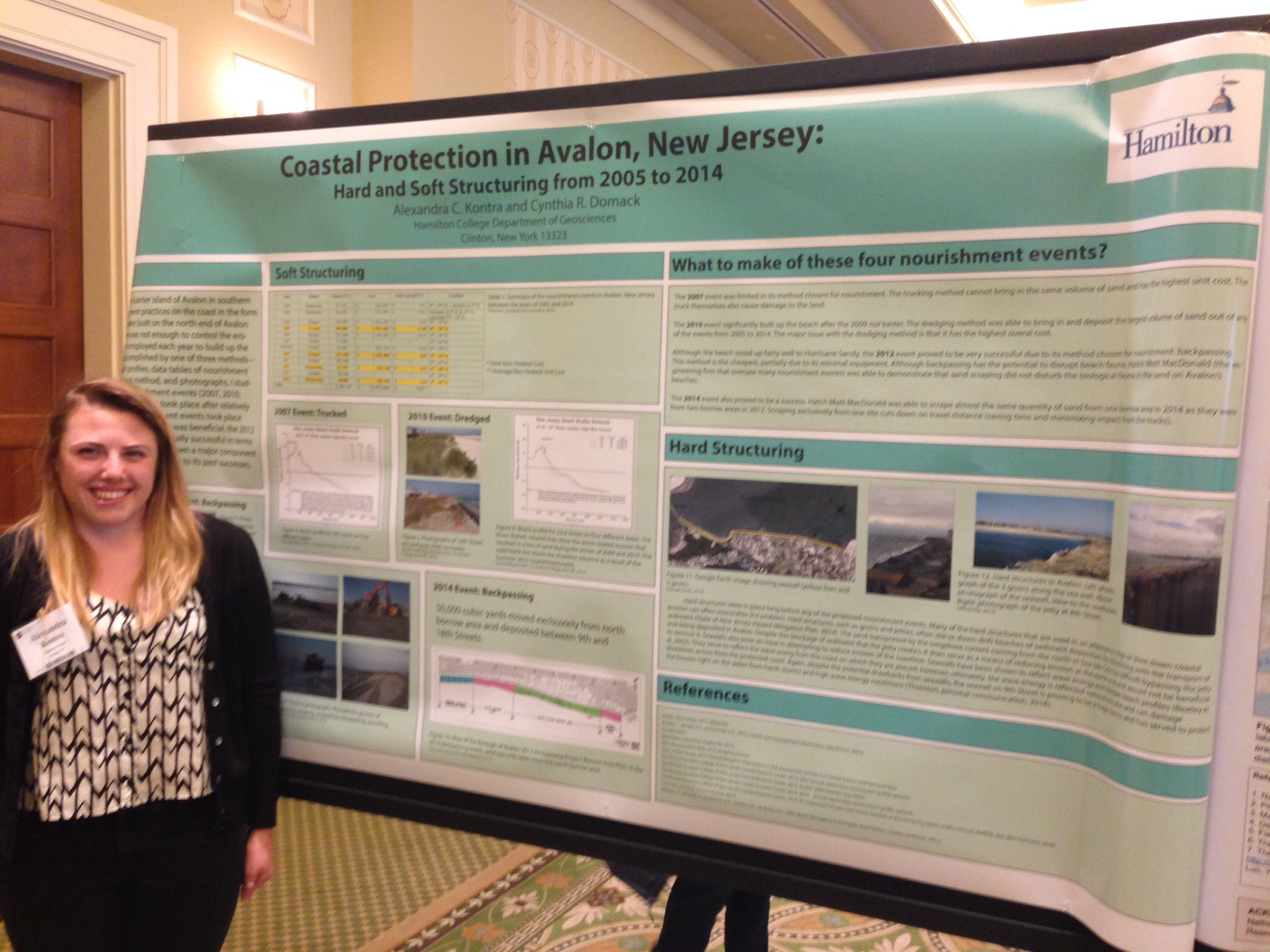 Ally Kontra '15 at the GSA Northeastern section annual meeting.