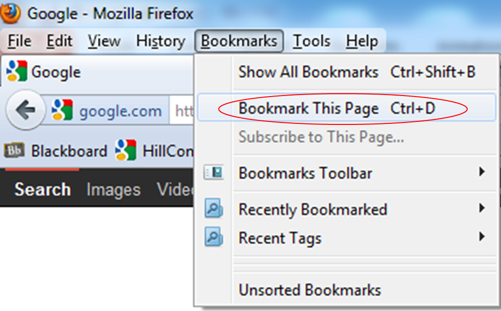 resource center adding a website to your favorites or bookmarks