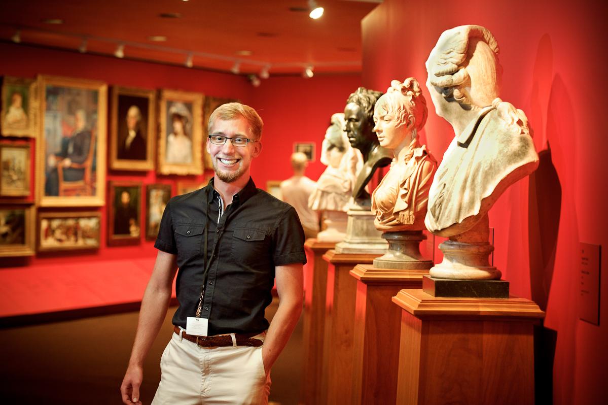 John Boudreau '14 at Williamstown's Clark Art Institute.
