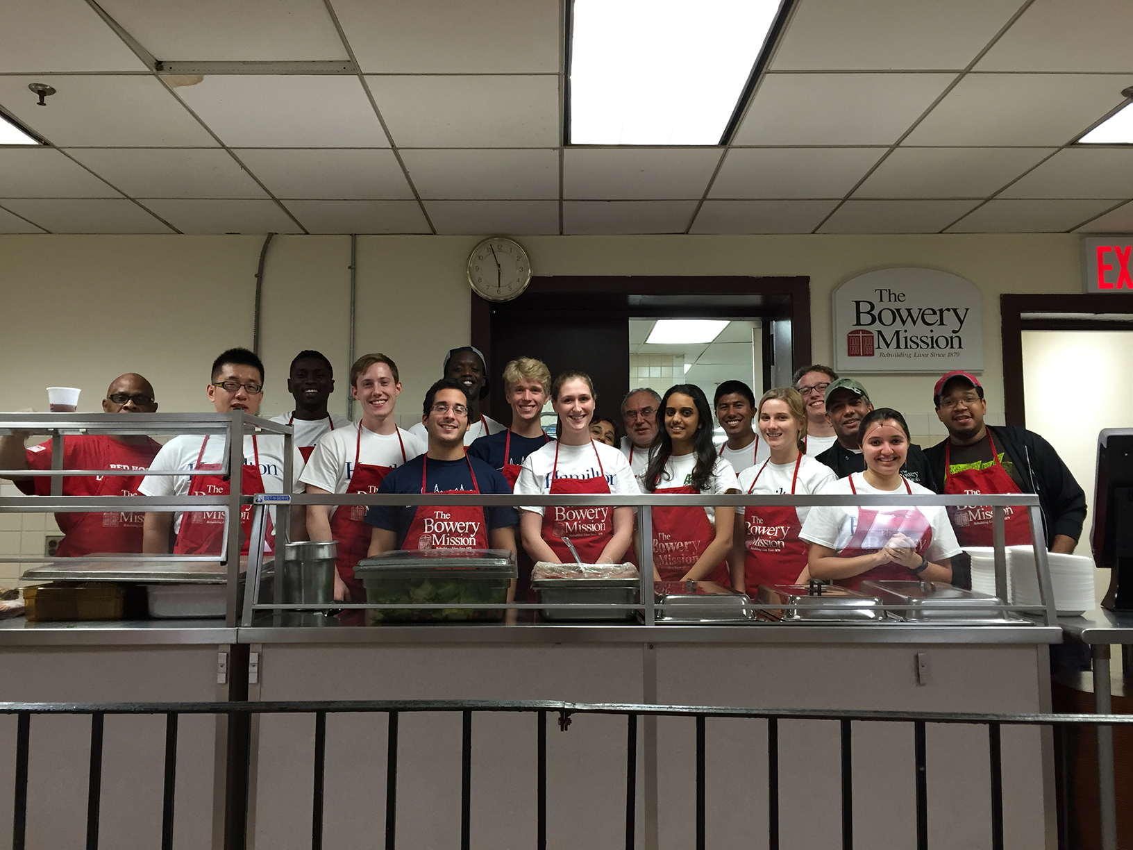 New York Program students at the Bowery Mission.