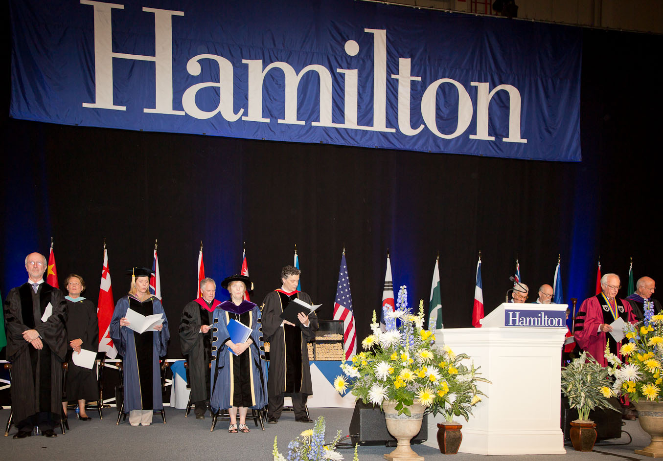Hamilton's 2014 Commencement ceremony begins.