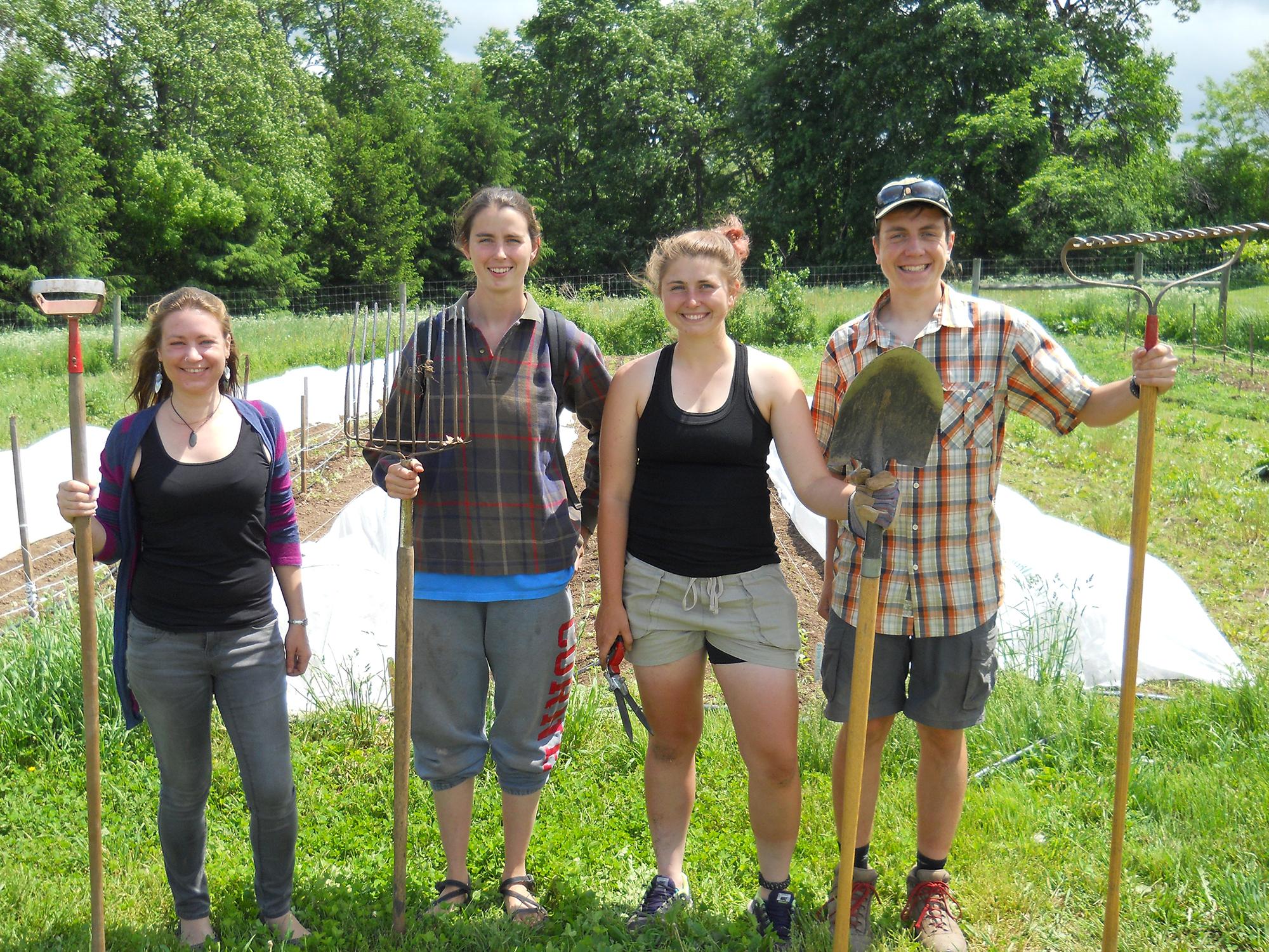 From left Hillary Joy Pitoniak, Ice Lekometros '16, Laura Kwasnoski '18 and Kelt Wilska '17.