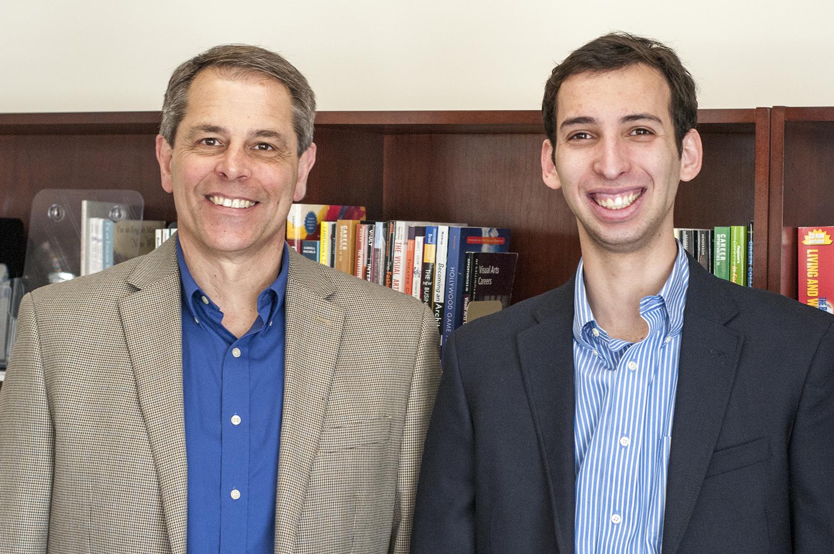 Director of Career Development David Bell and Matias Wolansky '16