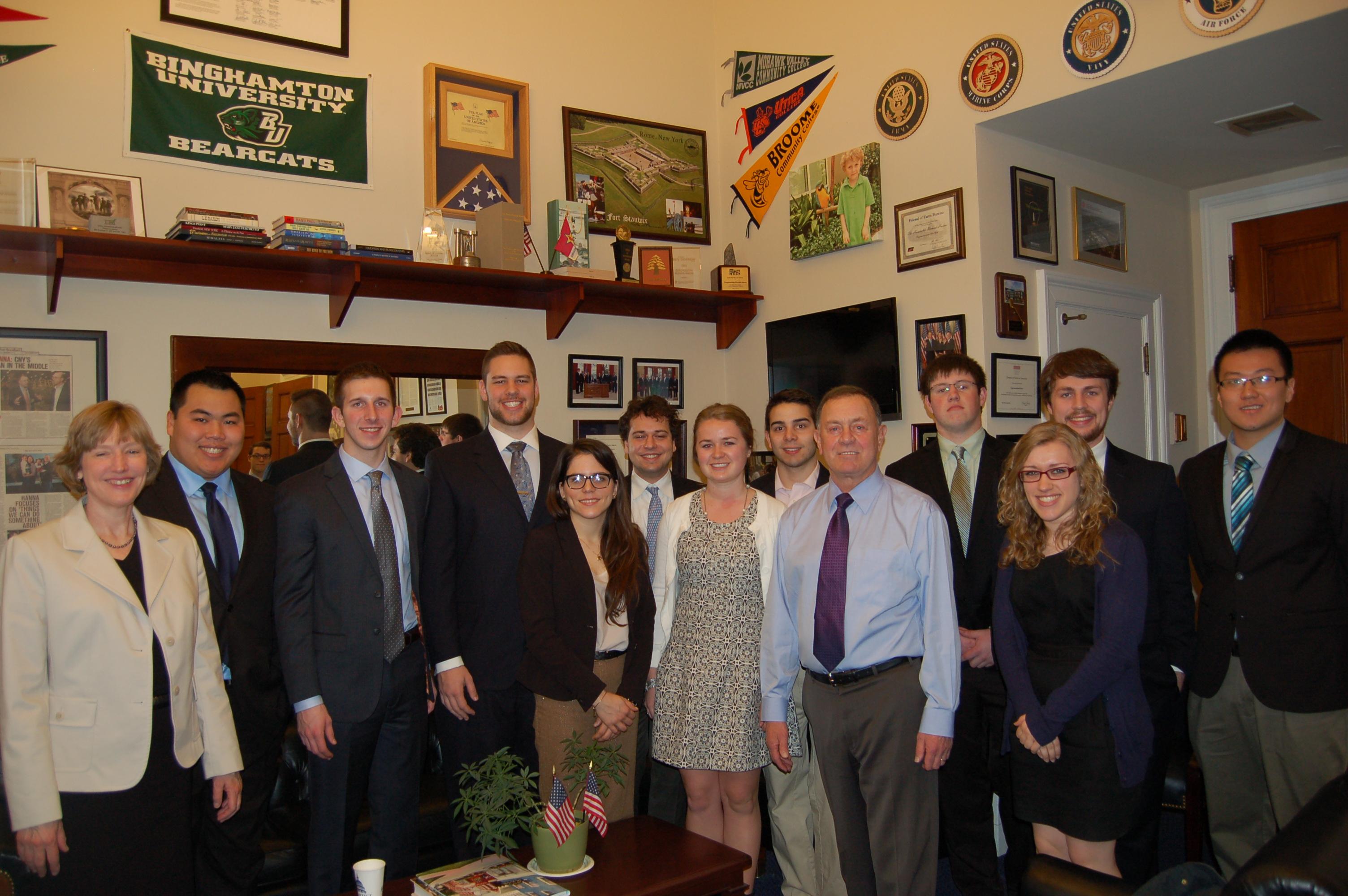 Hamilton's Washington Program students with Rep. Richard Hanna.