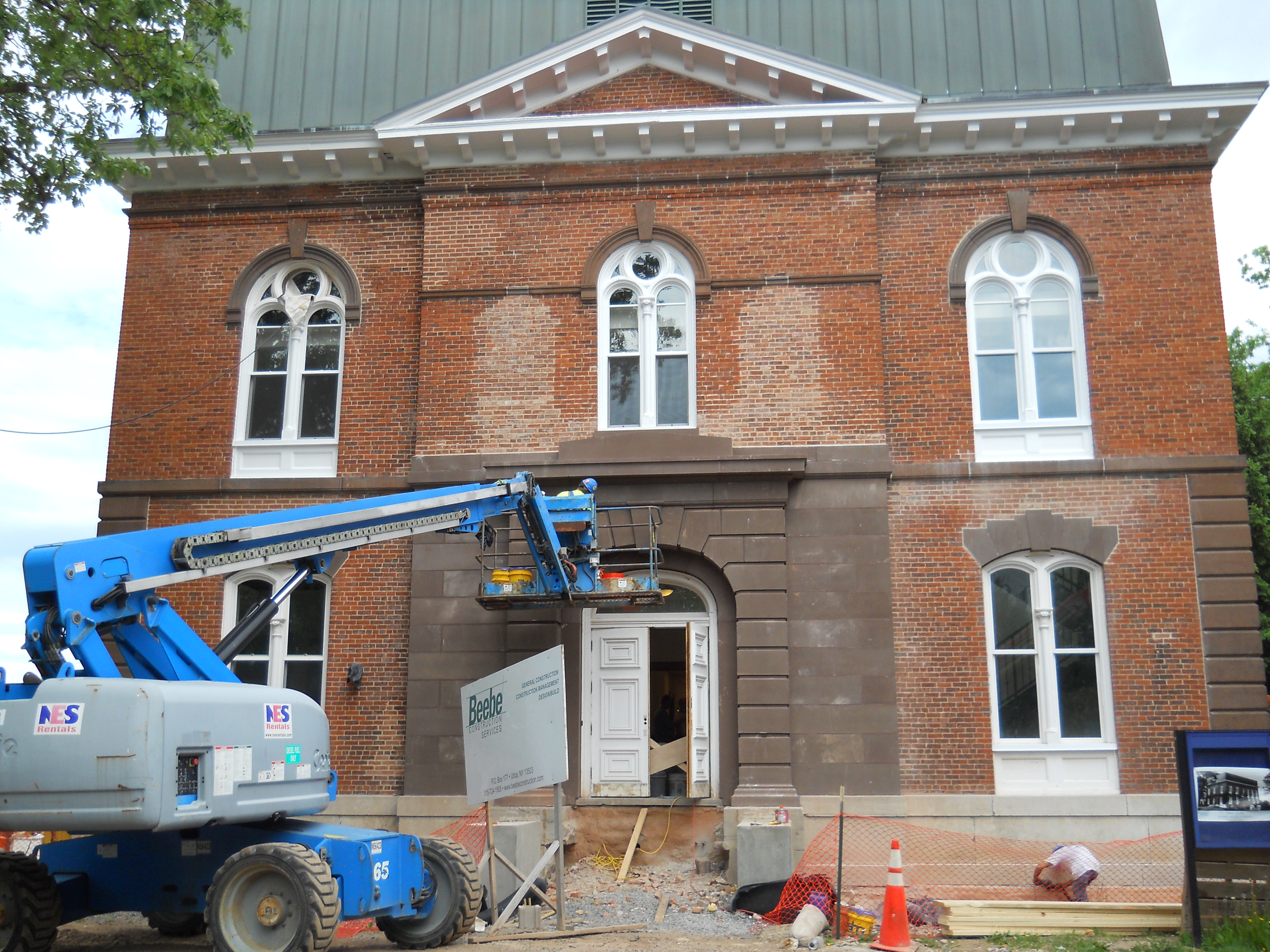 The renovation of Minor Theater to Morris House continues on May 27.