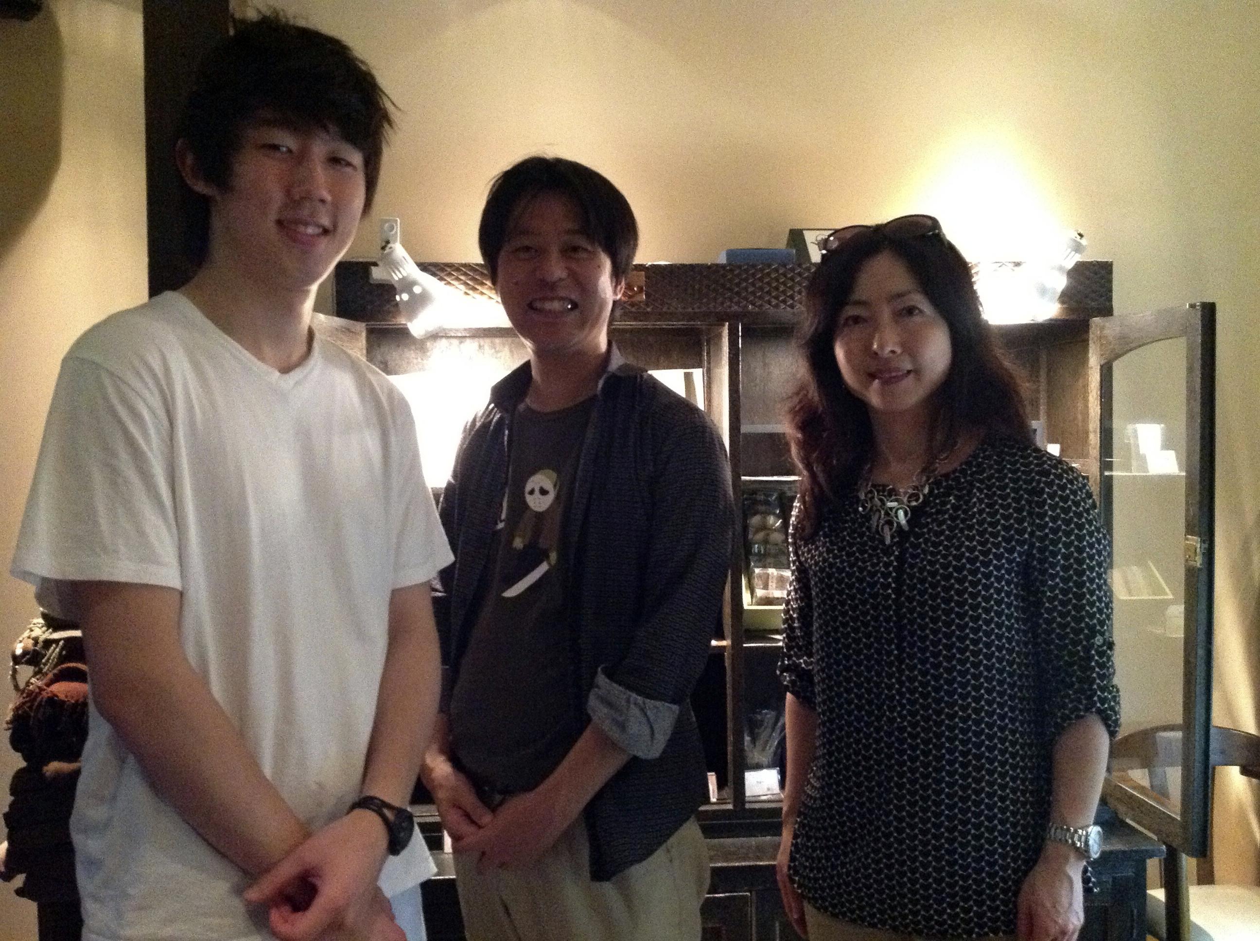 Tori Fukumitsu,  Ichiro Kataoka (a benshi), and Professor Kyoko Omori.