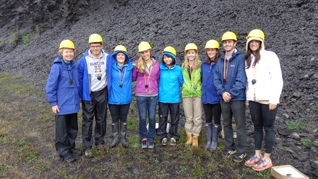 From left: Prof. Cynthia Domack, Alec Melone, Rachel Lannino, Nicole Saitta, Amy Song, Mary Langworthy, Izzy Taaffe, Eli Shakun, and Samantha Graber.