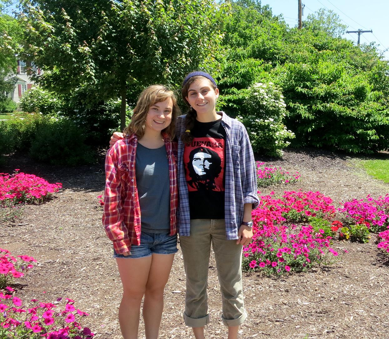 Kerri Grimaldi '15 and Deanna Nappi '15.