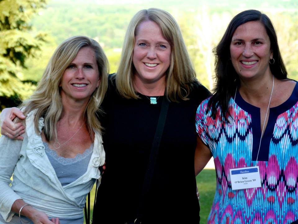 Green (right) with friends at reunions