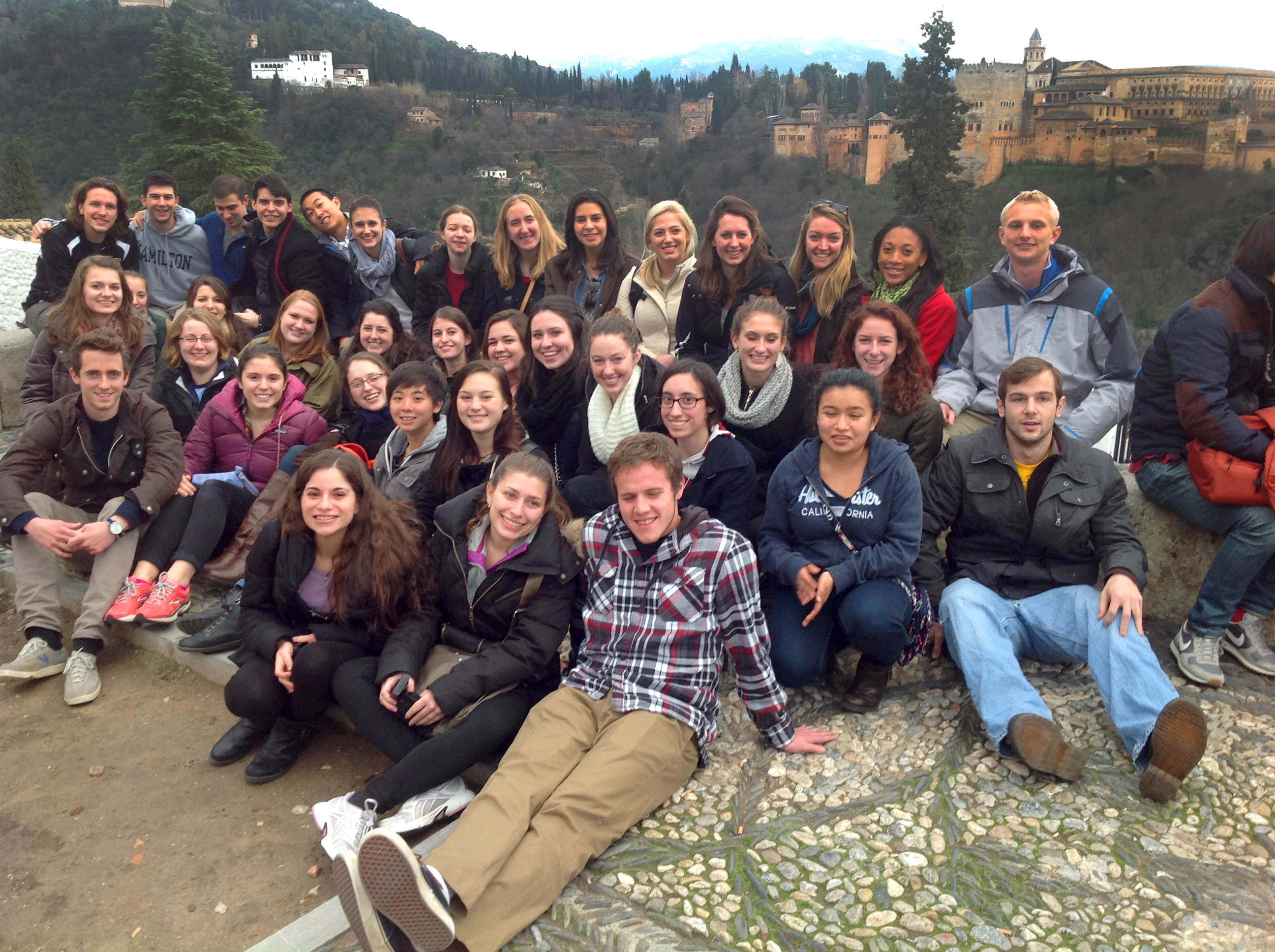 HCAYS students visit El Mirador de San Nicolás, Granada.
