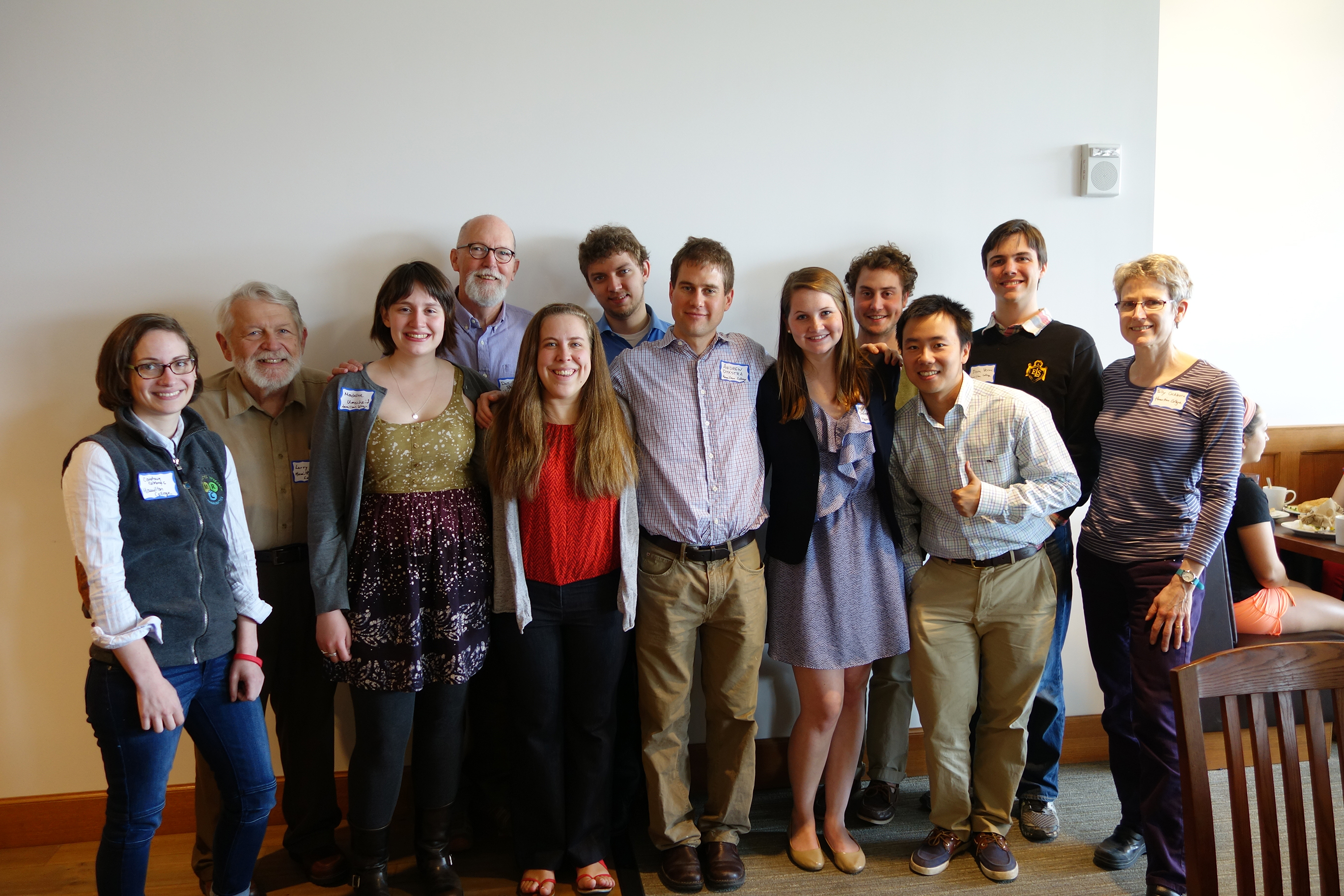 Hamilton mathematics concentrators and faculty at the Hudson River Undergraduate Mathematics Conference.