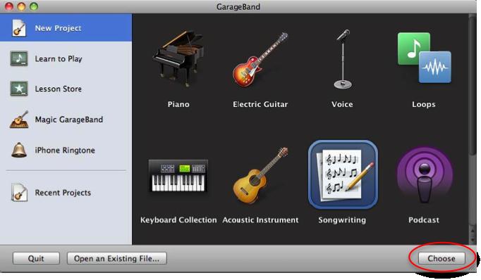 how to work garageband on mac 2015
