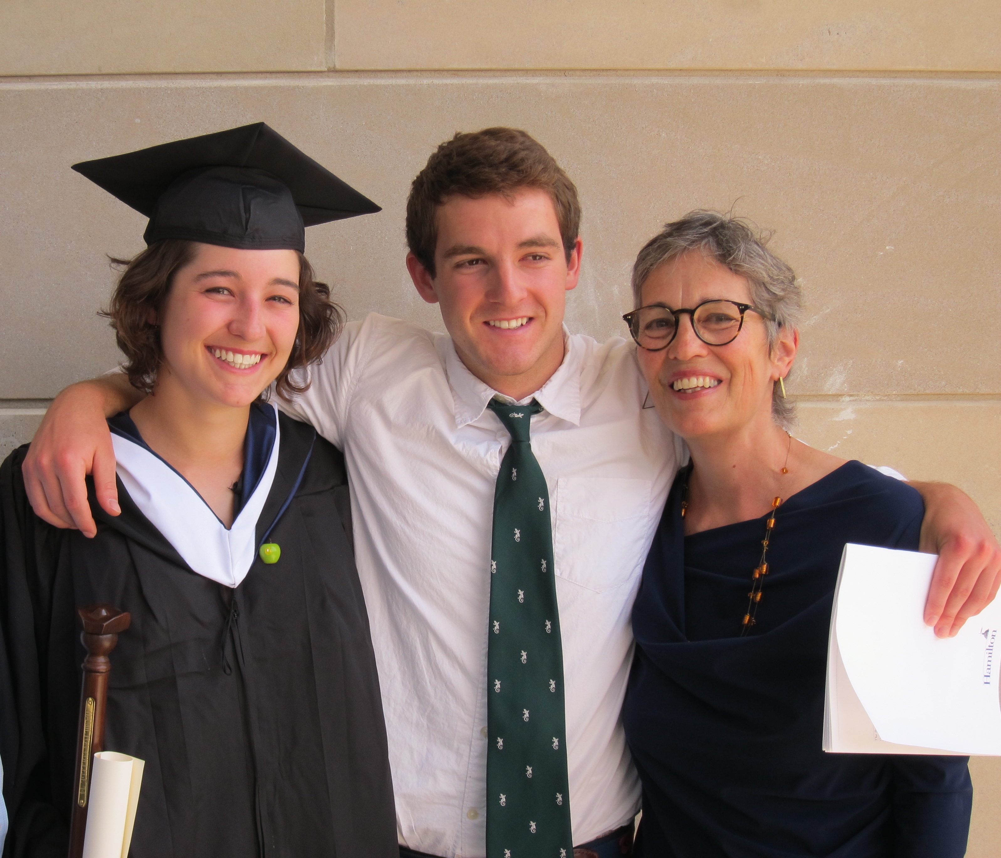 Kate Emlen with her daughter and son