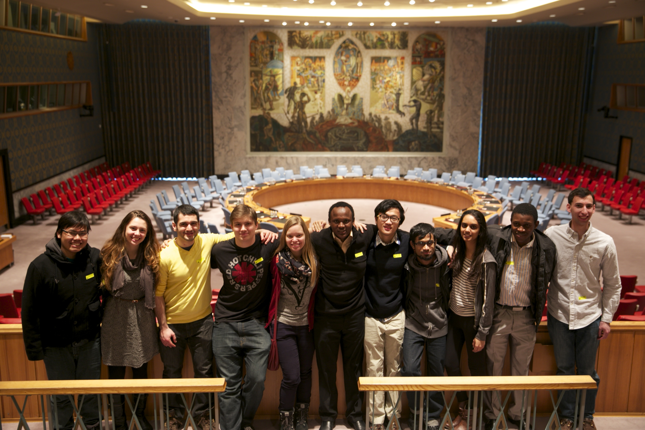 Students in Hamilton's ISA visit the United Nations Headquarters.
