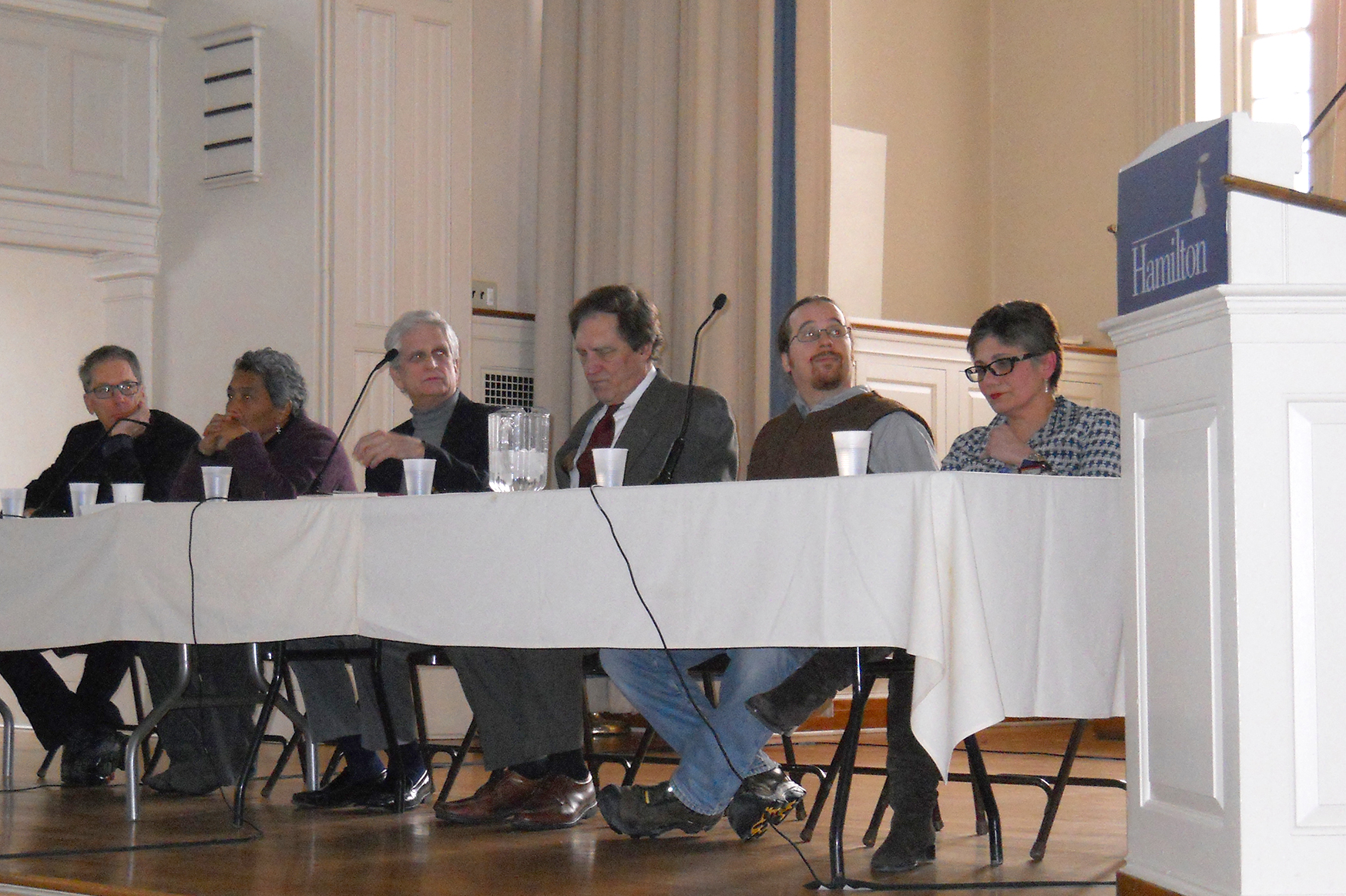 """The experts at the """"Islam: A Religion of Extremism"""" panel."""