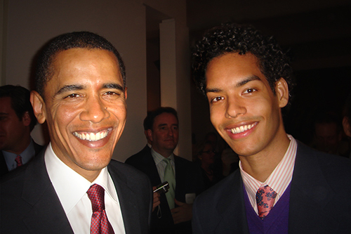 Jason Haas '07 with President Obama