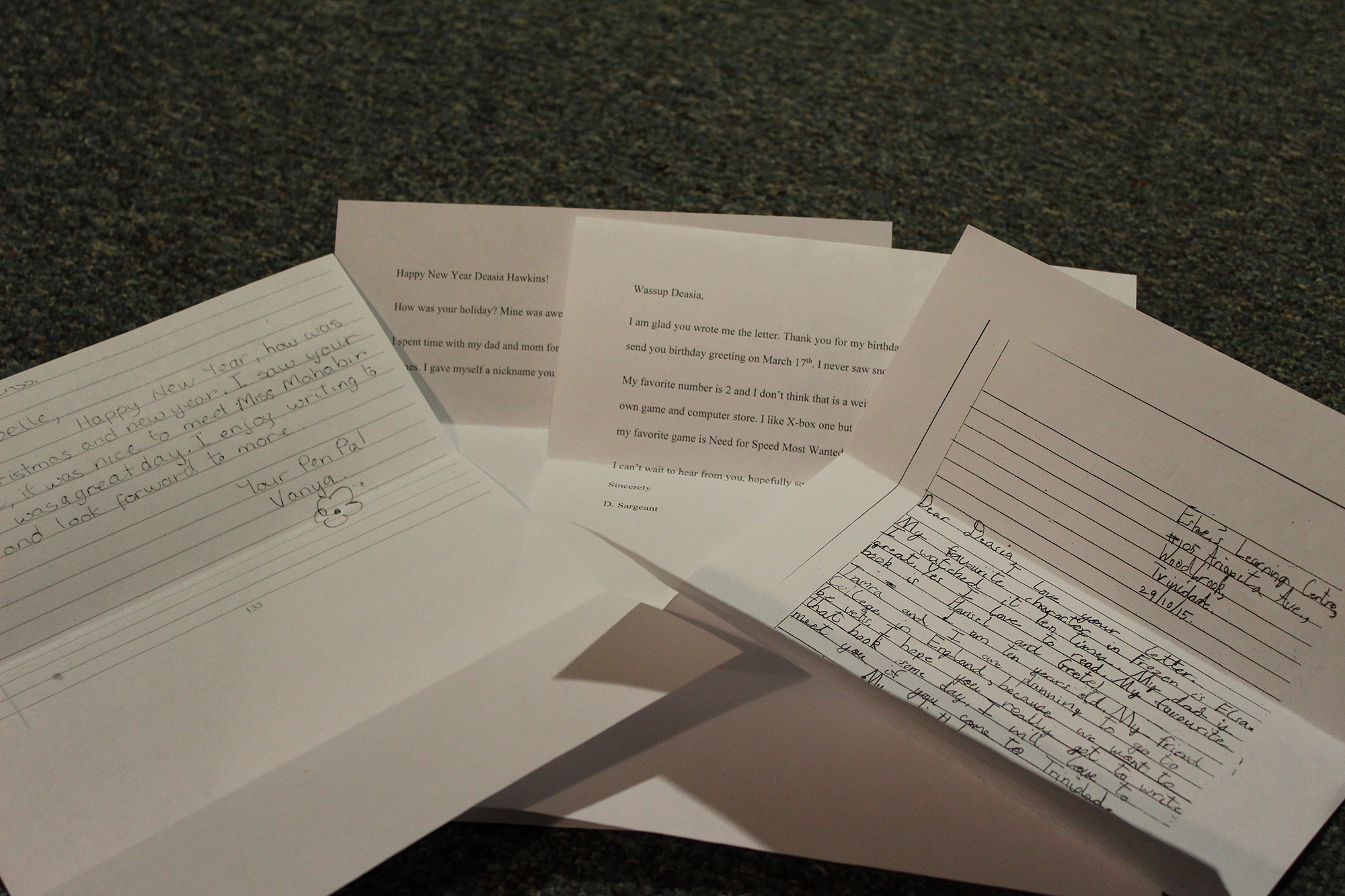 Some letters received from a Hamilton pen pal.