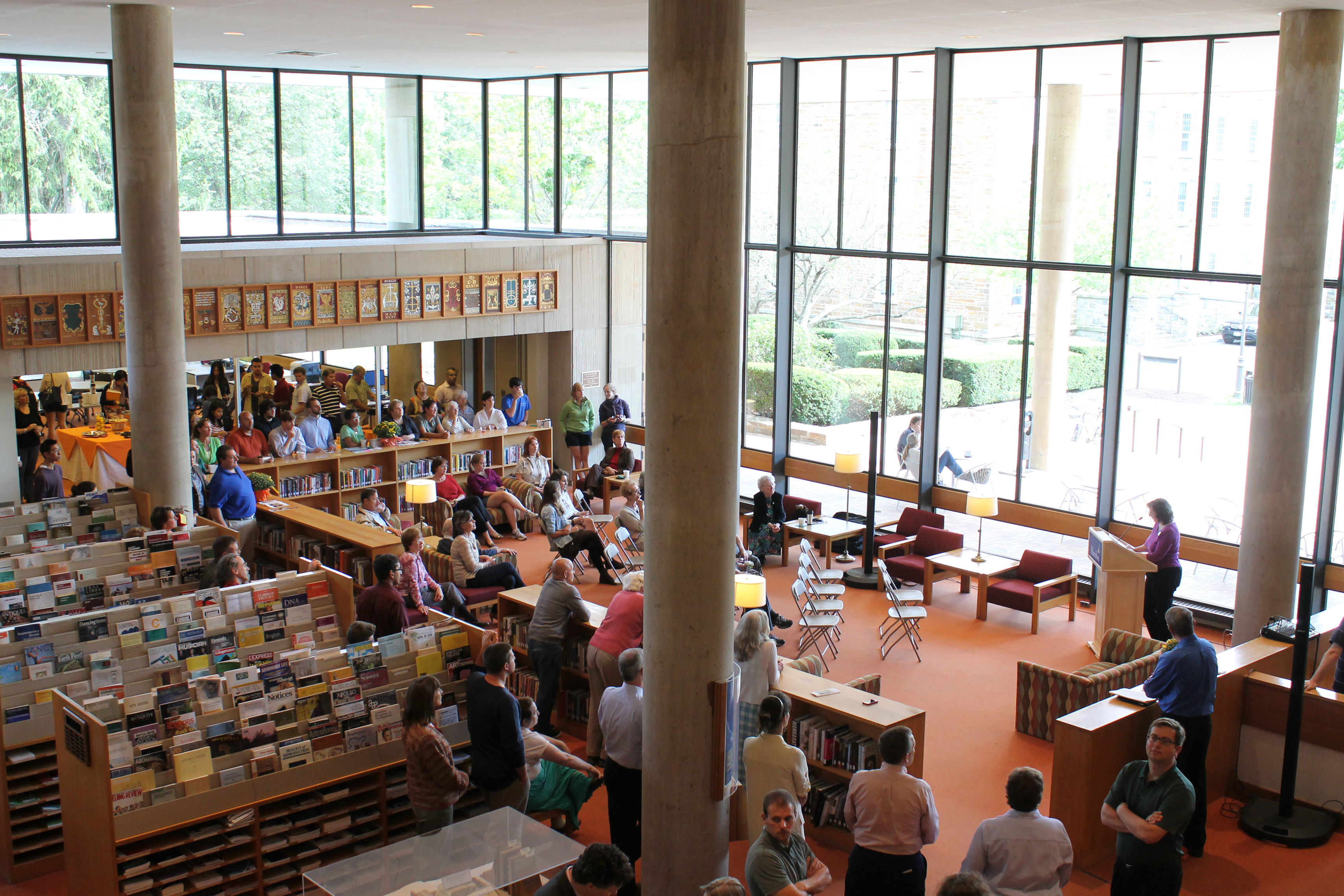 Burke Library hosted a celebration on Sept. 10 to commemorate its 40th birthday.