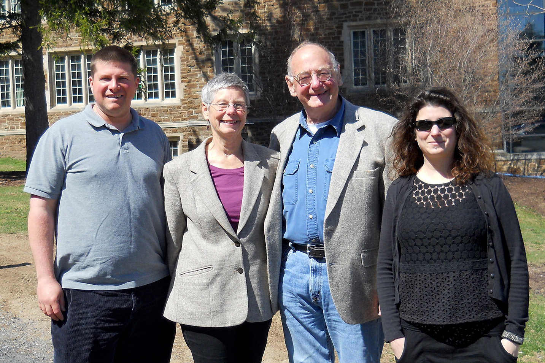 Christian Goodwillie, Carol McCord, Jim McCord, Janelle Schwartz '97.