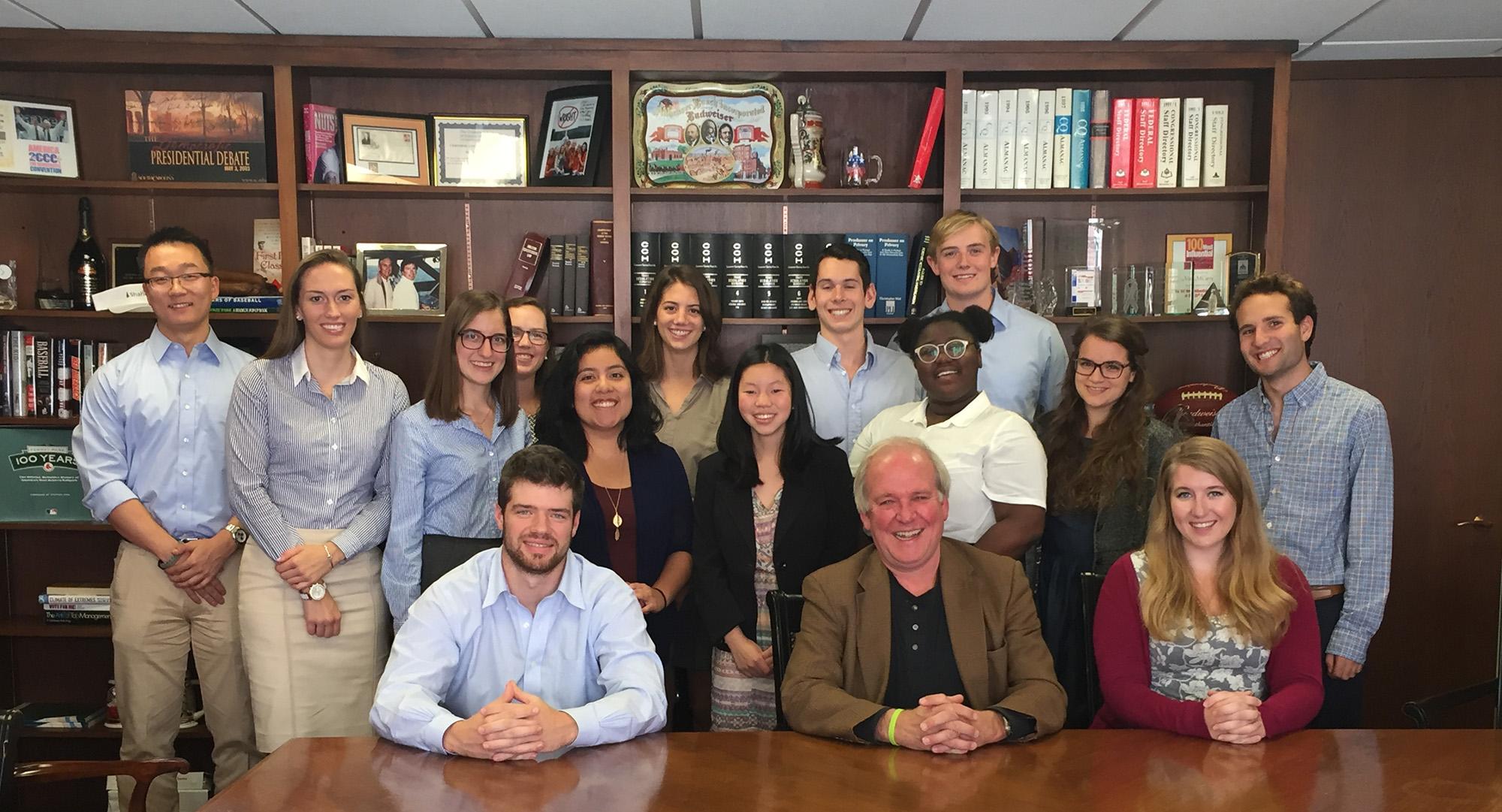 Hamilton Program in Washington students with Mike McCurry P'13 at Public Strategies Washington.