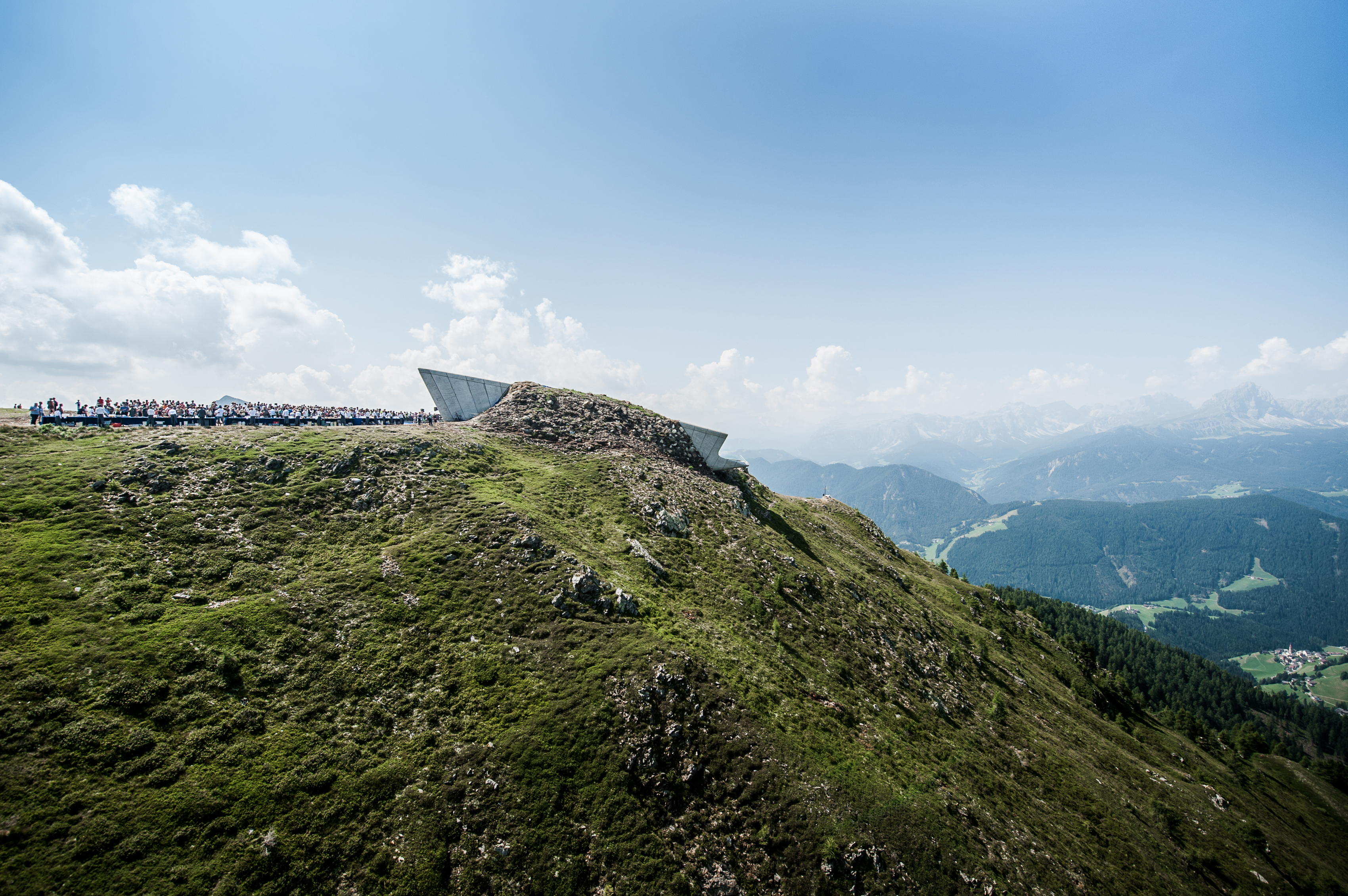 Designed by Zaha Hadid, the Corones Museum is the sixth in Messner's mountain museums