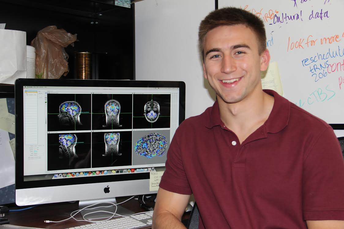 Alex Mitko '16 working at BAL Lab.