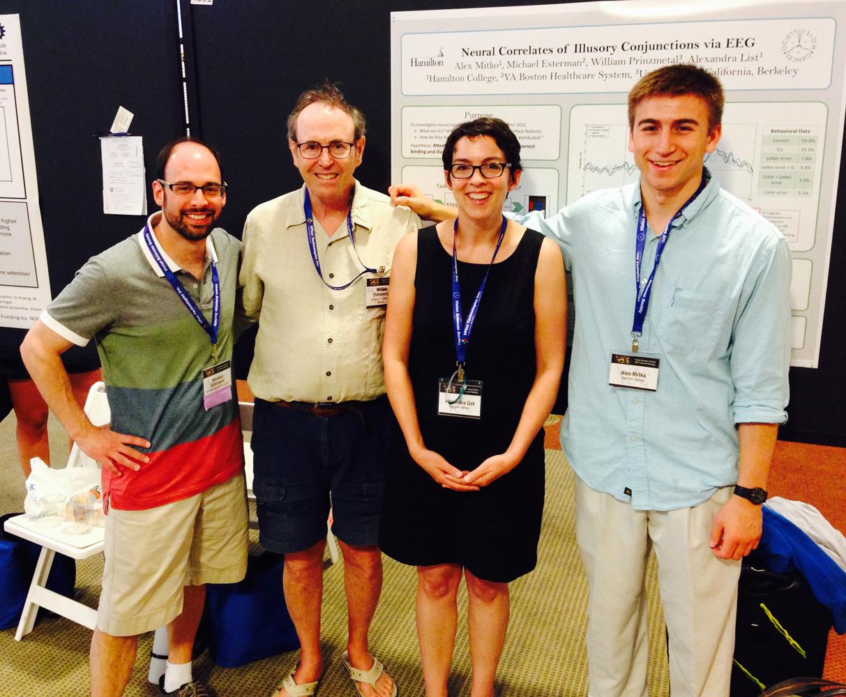 From left: Michael Esterman, William Prinzmetal, Alexandra List and Alex Mitko '16