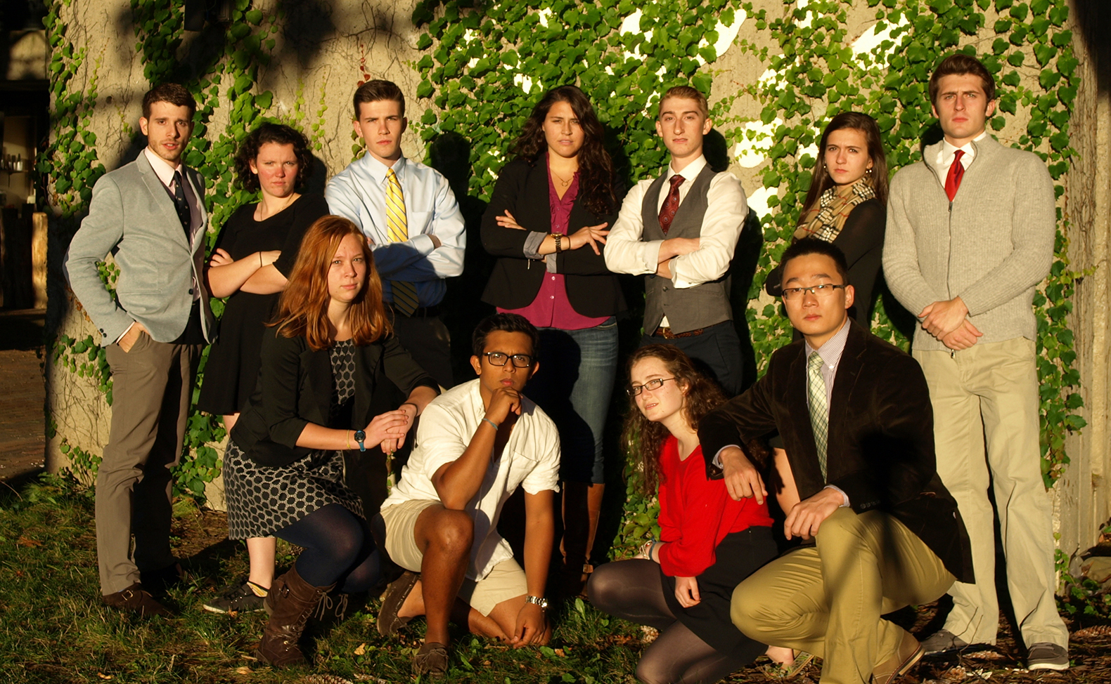 Hamilton's 2013-14 Mock Trial team.