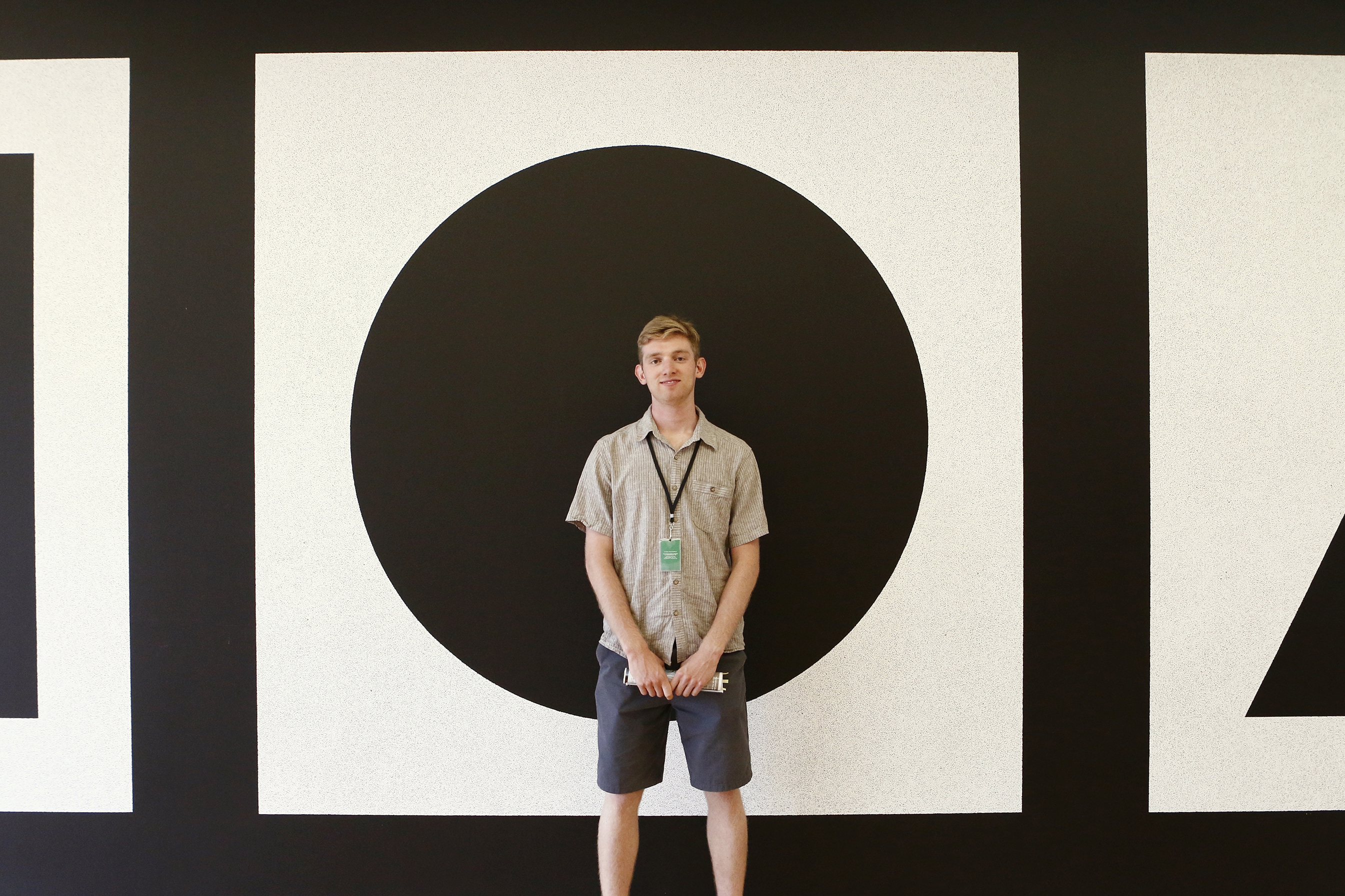 Jasper Nash '16 learns about marketing in a contemporary art setting.