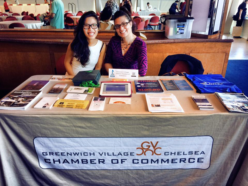 Kate Nguyen '15 and her supervisor Maria Diaz at the Community Heath Forum at NYU.