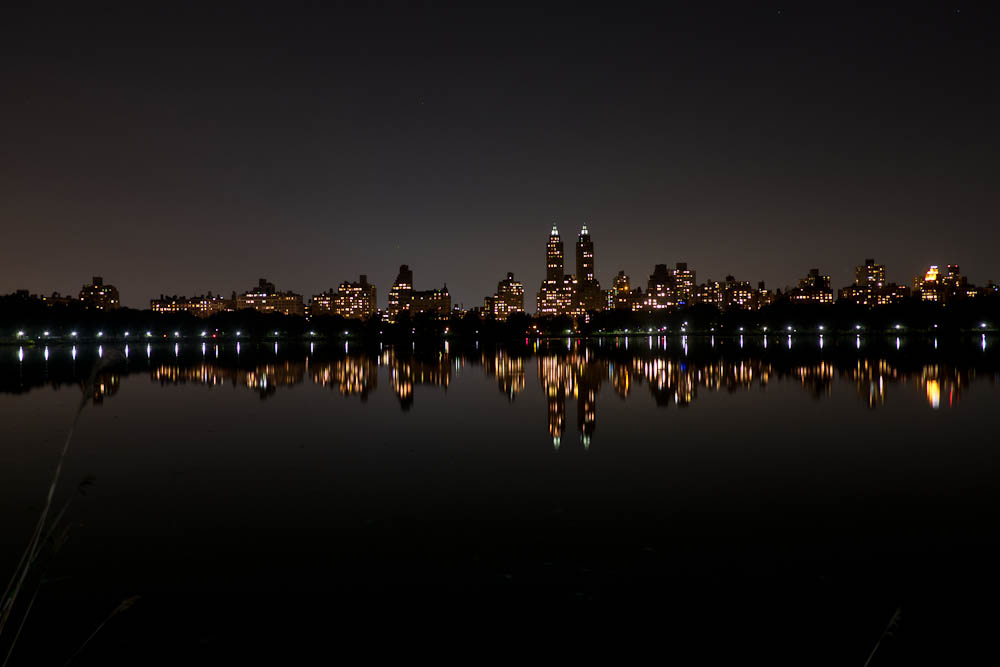A view of the skyline at night.