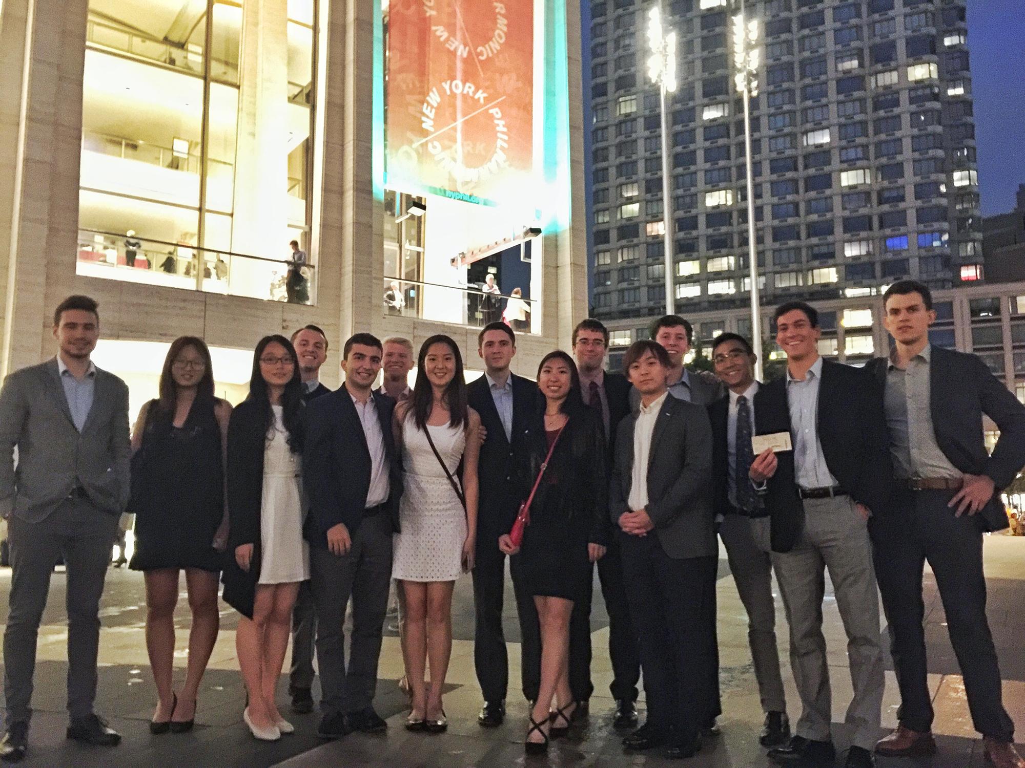 Hamilton's Fall 2015 Program in New York City students at Lincoln Center.