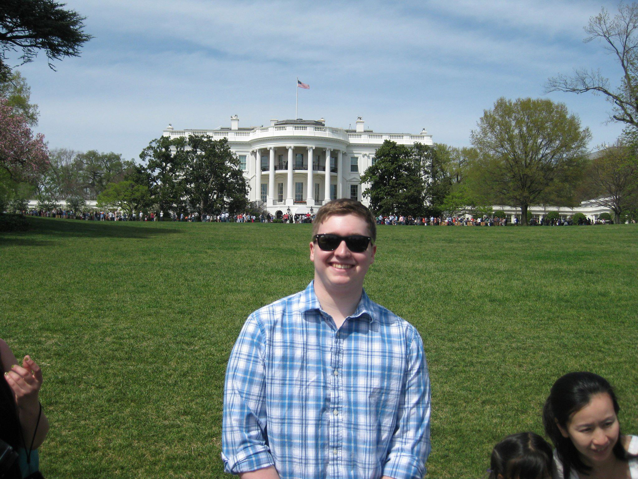Jeff Sobotko '14 in front of the White House.