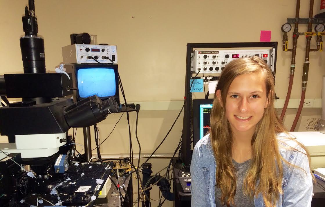 Hannah Staab '17 at the Albert Einstein College of Medicine.