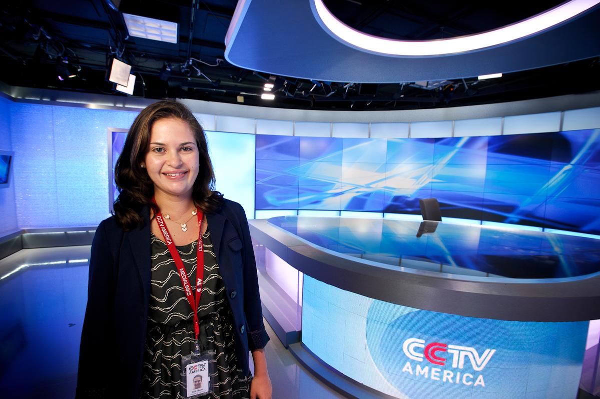 Liza Strauss '15 had a summer internship at China Central Television America in Washington, D.C.